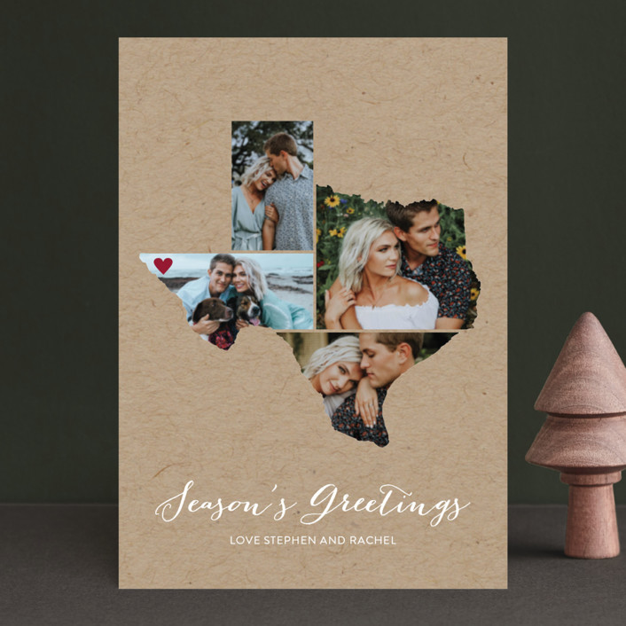 """""""Love Location"""" - Holiday Postcards in Kraft by Heather Buchma."""