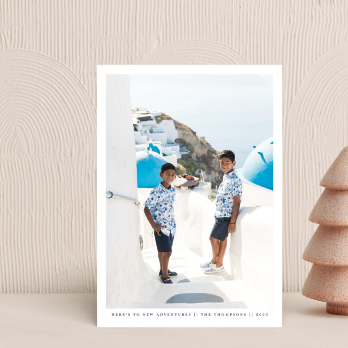 """""""New Adventures New Year"""" - Holiday Postcards in Marina by Ashlee Townsend."""
