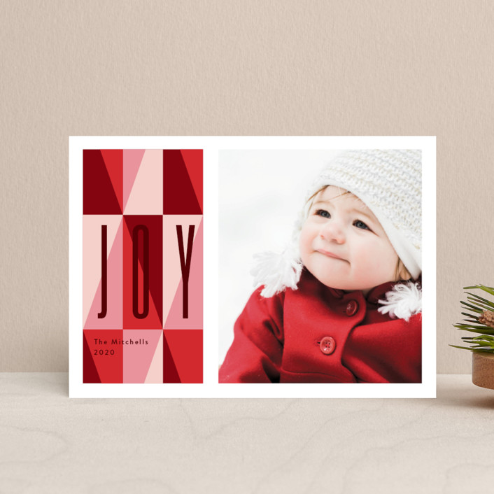 """""""bright like a diamond"""" - Vintage Holiday Postcards in Ruby by Anelle Mostert."""