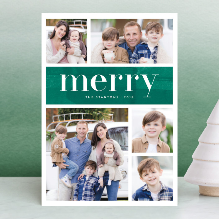 """""""Bright Merry"""" - Holiday Postcards in Berry by Kelly Nasuta."""