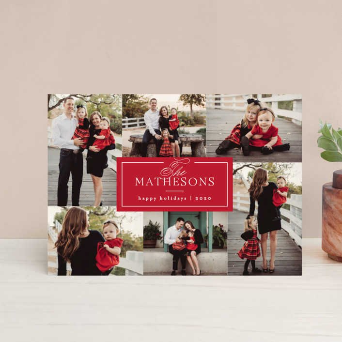 """""""Formal Name"""" - Holiday Postcards in Berry by Kelly Schmidt."""
