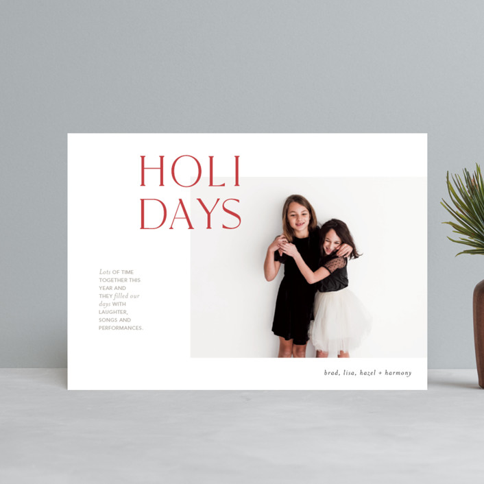 """""""Joyful Edits"""" - Holiday Postcards in Rosy Cheeks by Mere Paper."""