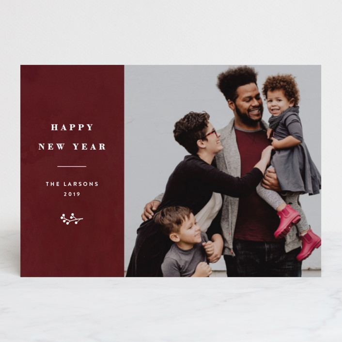 """""""Celebrate His Love"""" - Holiday Postcards in Cranberry by Basil Design Studio."""