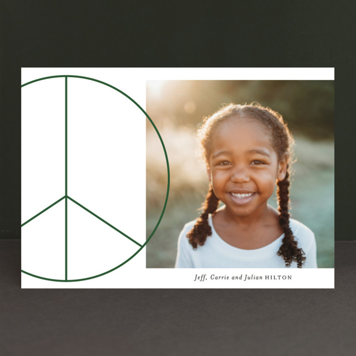 """Big Peace"" - Holiday Postcards in Emerald by Baumbirdy."