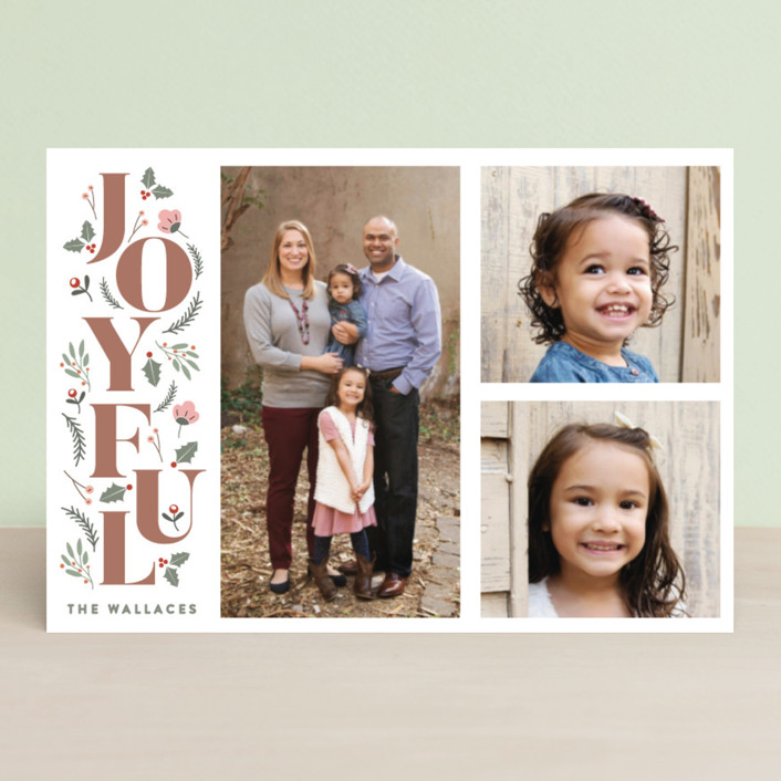 """""""Foliage Joyful"""" - Holiday Postcards in Forest by curiouszhi design."""