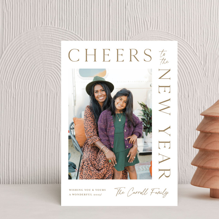"""""""New Years Wrap"""" - Holiday Postcards in Wheat by Kristen Smith."""