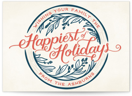 Happiest of Holidays Holiday Postcards