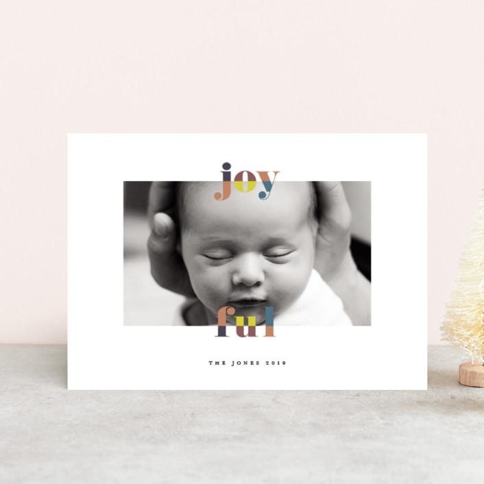 """""""color-block joyful"""" - Holiday Postcards in Classic by Faith Dorn."""