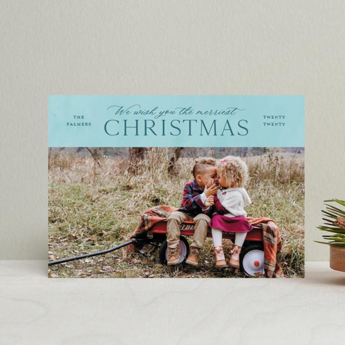 """We Wish"" - Holiday Postcards in Wine by Ellis."
