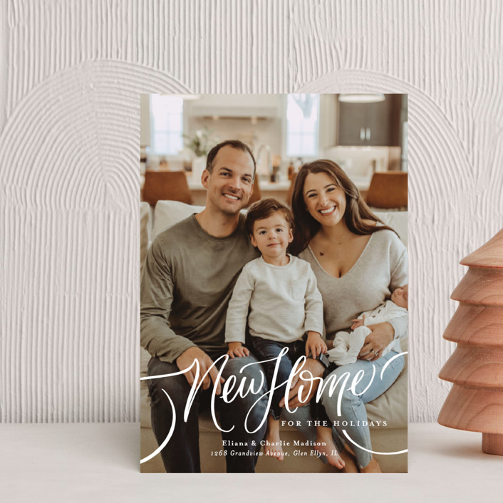 """""""A New Home for the Holidays"""" - Holiday Postcards in Cozy by Erin German."""