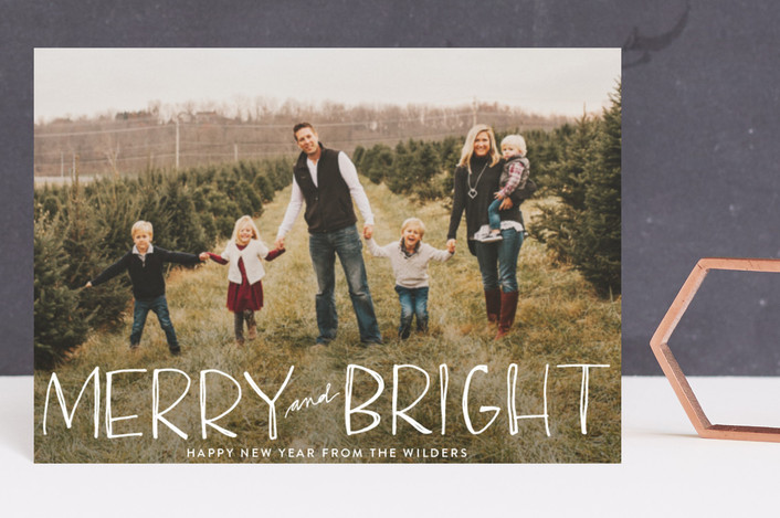 """""""Be Merry and Bright"""" - Holiday Postcards in Snow by Annie Montgomery."""