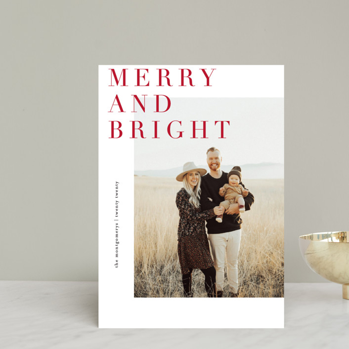 """""""Editorially"""" - Holiday Postcards in Berry by Julie Murray."""