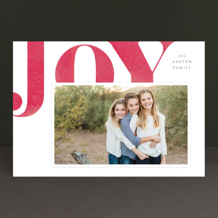 """Statement Joy"" - Holiday Postcards in Red velvet by kelli hall."