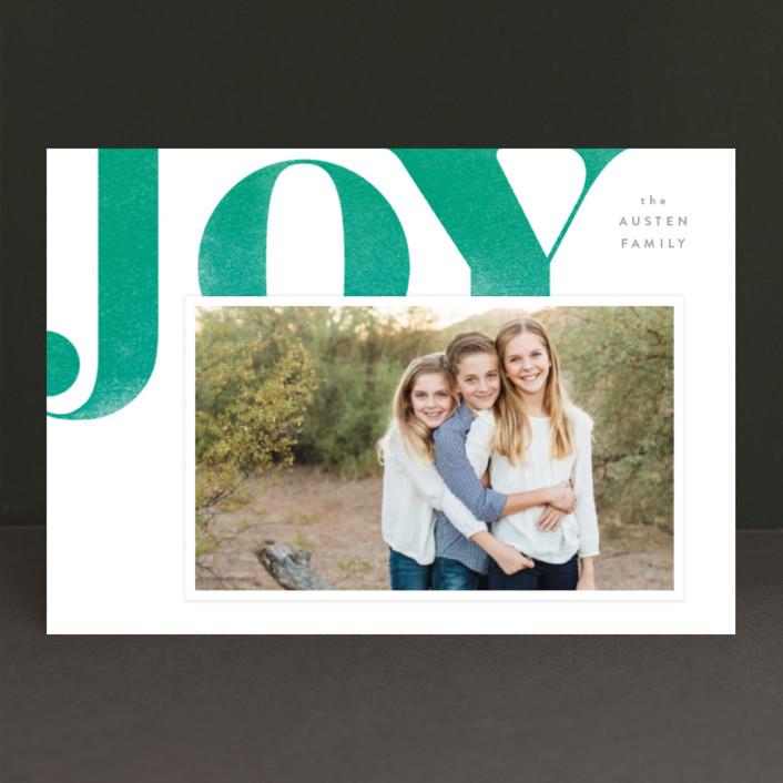"""Statement Joy"" - Holiday Postcards in Emerald velvet by kelli hall."