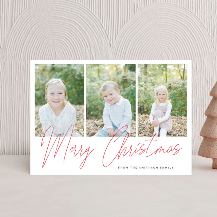 """""""hand-written holiday message"""" - Holiday Postcards in Pine by Alexandra Dzh."""