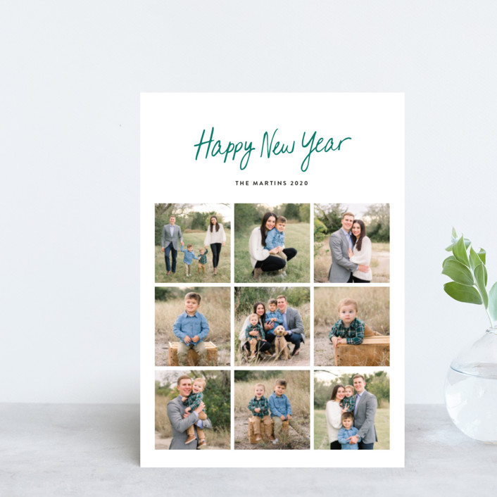 """""""Faith Hope & Love"""" - Holiday Postcards in Ruby by Basil Design Studio."""