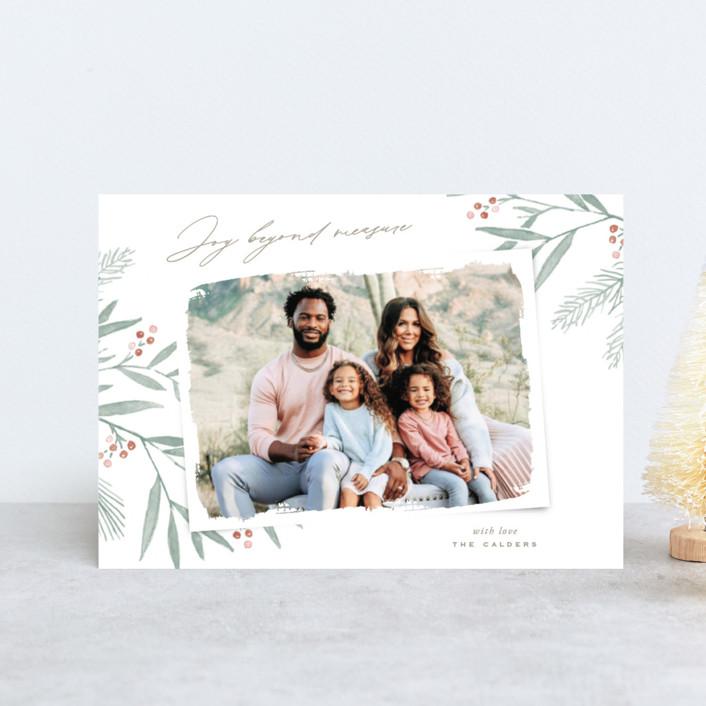 """Organic Harmony"" - Holiday Postcards in Rust by Oscar & Emma."