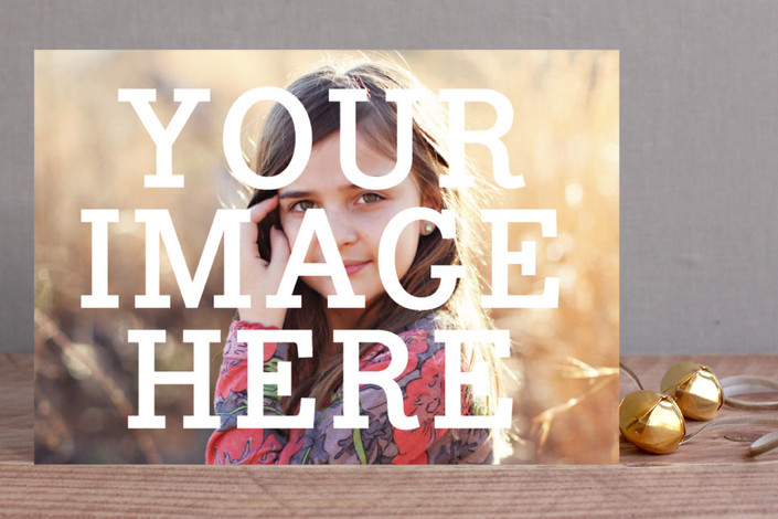 """""""The Big Picture"""" - Holiday Postcards in White by Minted."""