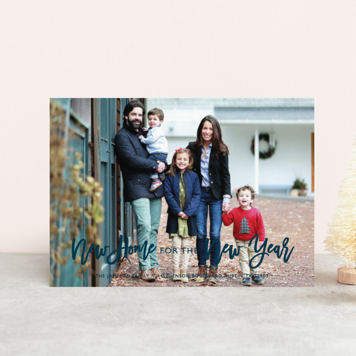 """""""New Home"""" - Holiday Postcards in Midnight by Bethany Anderson."""