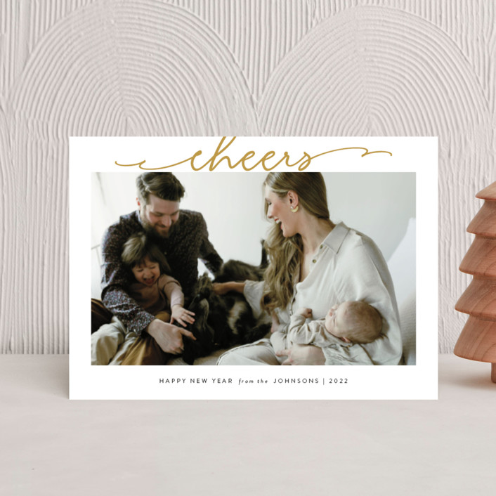"""""""Scripted Merry"""" - Holiday Postcards in Golden by Kasia Labocki."""