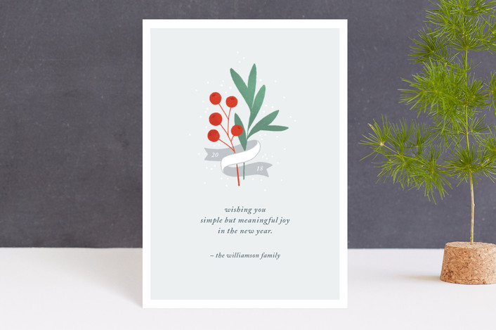 """""""Simple Joys"""" - Holiday Postcards in Frost by Paper Raven Co.."""