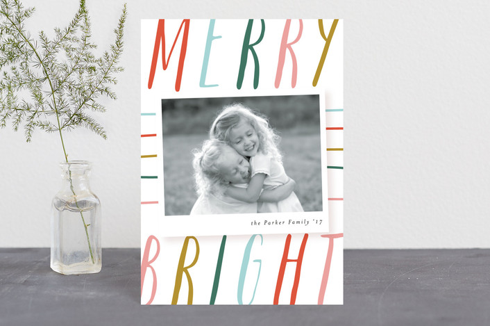"""""""Big and Cheery"""" - Modern Holiday Postcards in Gum Drops by Angela Marzuki."""