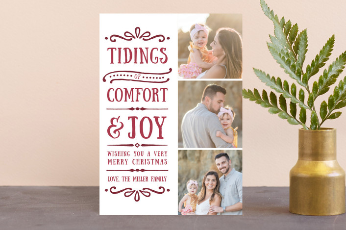 """""""Comfort + Joy"""" - Holiday Postcards in Wine by Olivia Goree."""