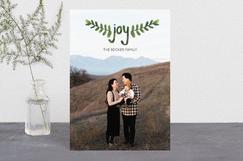 Hand-Painted Branches Holiday Postcards