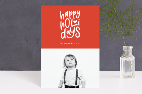 Merry Heart Christmas Holiday Postcards