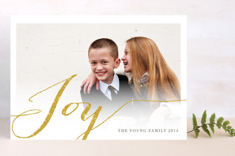 Shimmering Joy Holiday Postcards