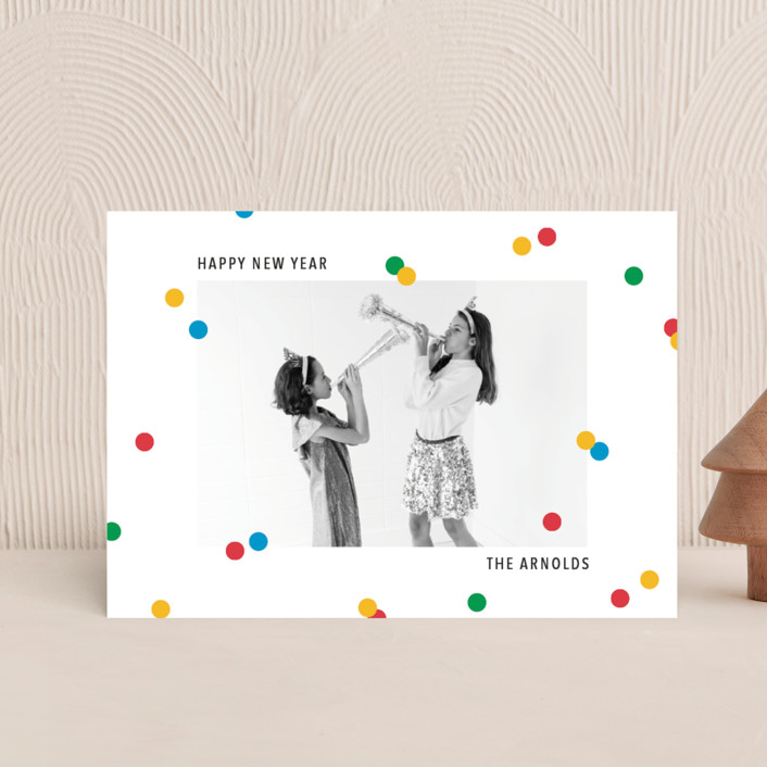 """vibrant confetti"" - Holiday Postcards in Cherry by Ellen Schlegelmilch."