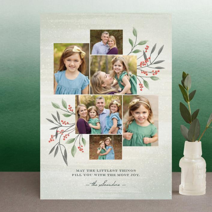 """Littlest Things"" - Holiday Postcards in Fern by Ann Gardner."