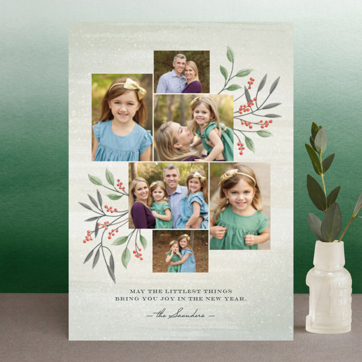 """Littlest Things"" - Holiday Postcards in Fern by Ann Gardner."