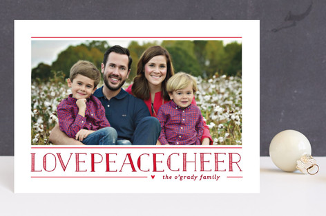 Love Peace Cheer Holiday Postcards