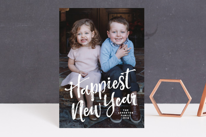 """Happiest"" - Holiday Postcards in Winter by Lea Delaveris."