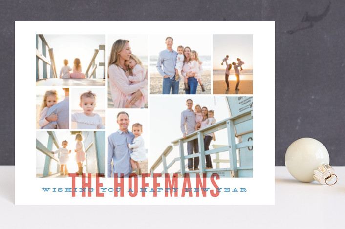"""Lotsa Photos"" - Holiday Postcards in Navy by Jody Wody."
