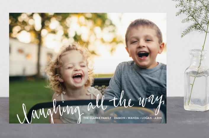 """""""Laughing All the Way"""" - Holiday Postcards in Frost by Rebecca Daublin."""
