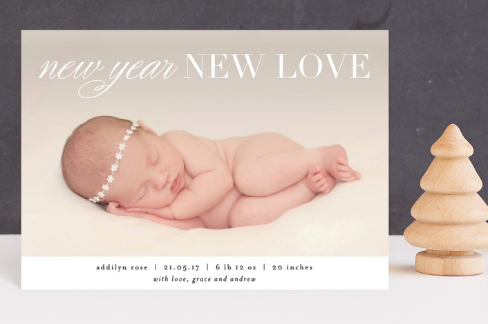 """New Year New Love"" - Holiday Postcards in Snow by Kelly Schmidt."