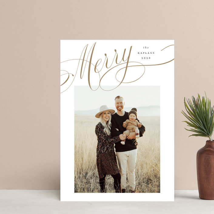 """""""Flourished"""" - Holiday Postcards in Wheat by Stacey Meacham."""