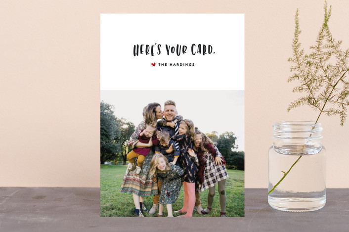 """""""Here's Your Card"""" - Funny Holiday Postcards in Holly by Erin L. Wilson."""