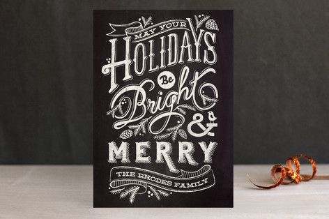 Bright and Chalky Holiday Postcards