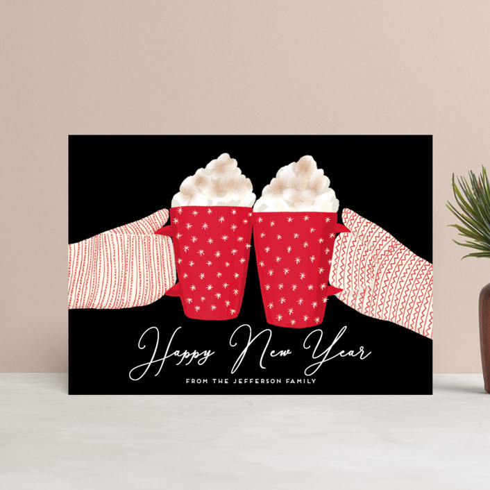 """""""warmest holidays"""" - Holiday Postcards in Candy Cane by Alexandra Dzh."""