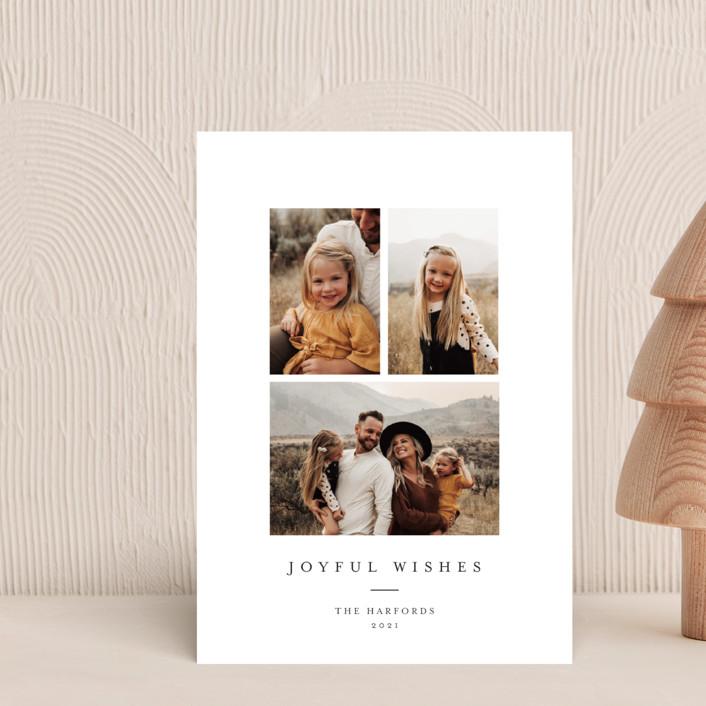 """""""Joyful Trio"""" - Holiday Postcards in Noir by Angela Thompson."""