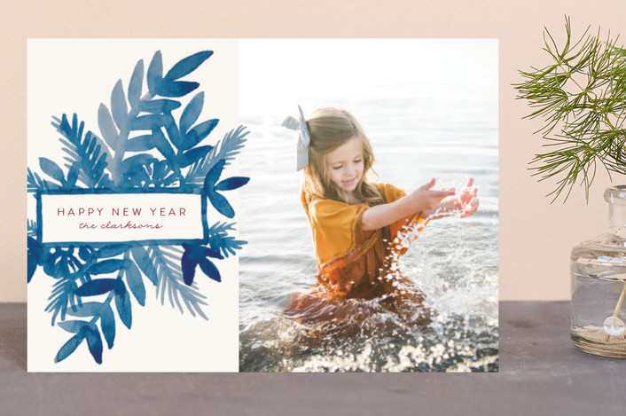 """""""Watercolor Spray"""" - Holiday Postcards in Sea by Katharine Watson."""