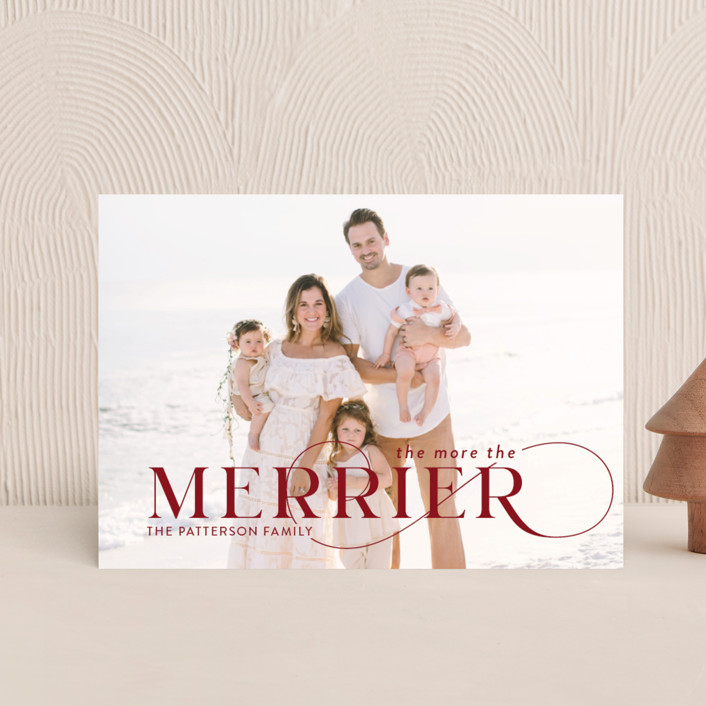 """""""More and Merrier"""" - Holiday Postcards in Cherry by Yaling Hou Suzuki."""