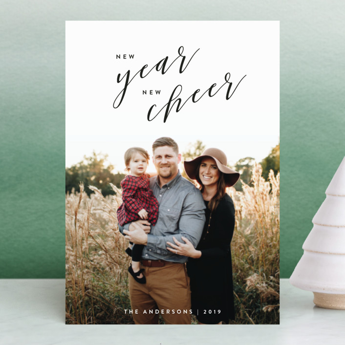 """""""New Year, New Cheer"""" - Holiday Postcards in Onyx by JoAnn Jinks."""
