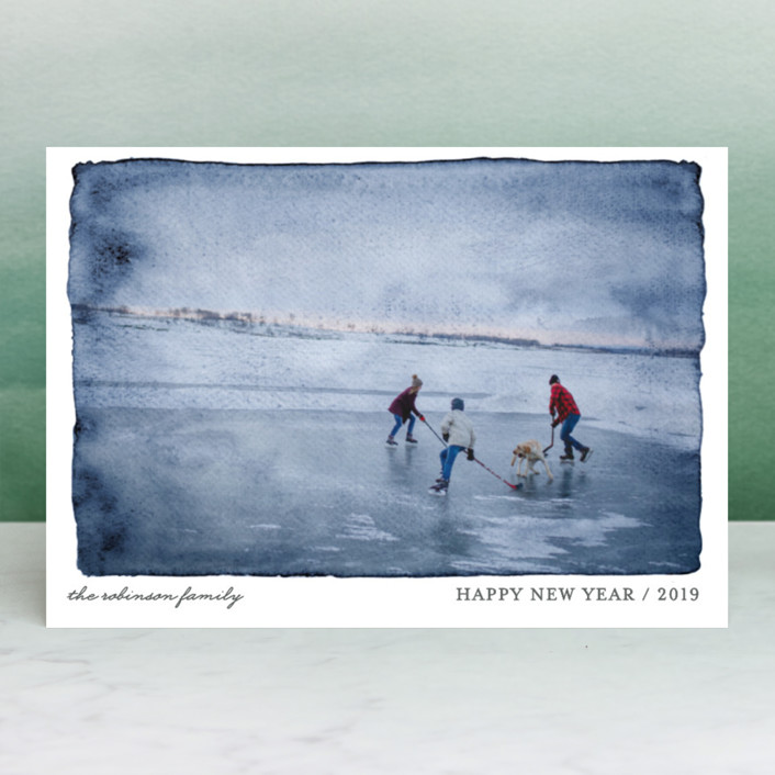 """""""Aquarelle"""" - Holiday Postcards in Turquoise by cambria."""