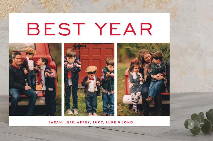 """be merry blocks"" - Holiday Postcards in Berries by Phrosne Ras."