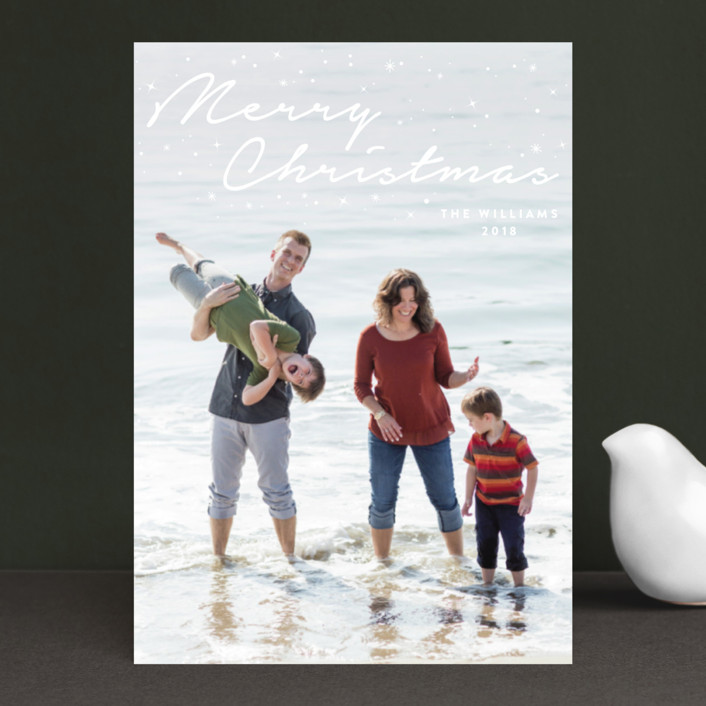 """""""Sparkling Merry Christmas"""" - Holiday Postcards in Snow by fatfatin."""