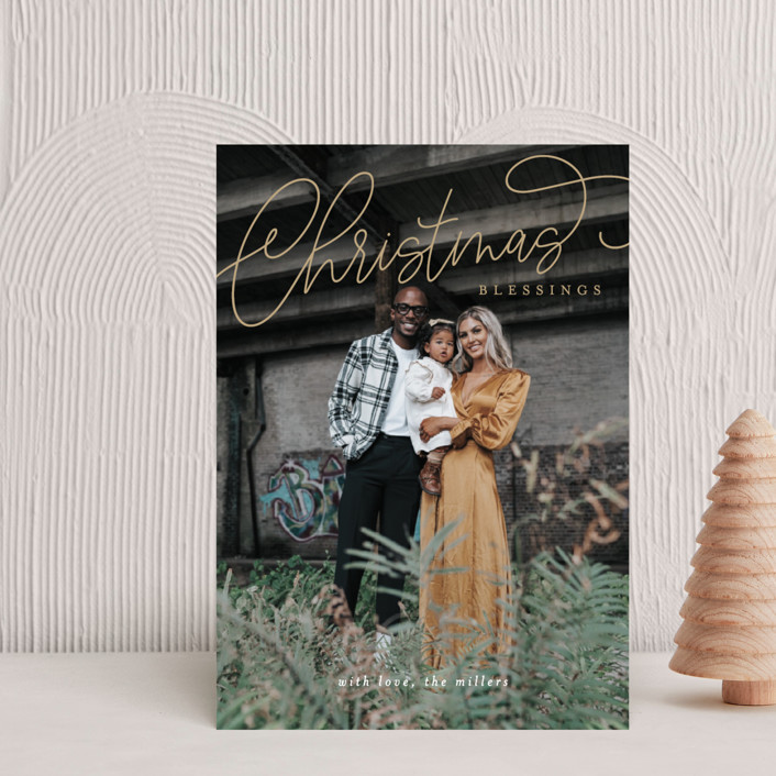 """""""Christmas Script"""" - Holiday Postcards in Gilded by Itsy Belle Studio."""